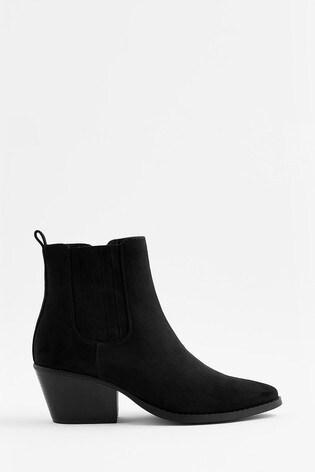 Accessorize Black Western Boots