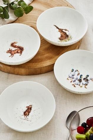 Set of 4 Royal Worcester Wrendale Animal Bowls