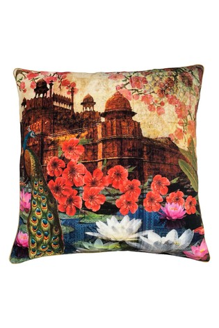 Red Fort Cushion by Riva Home