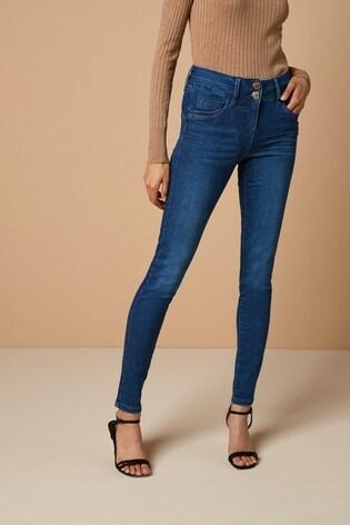 Dark Blue Lift, Slim And Shape Skinny Jeans