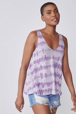Purple Dip Dye Vest