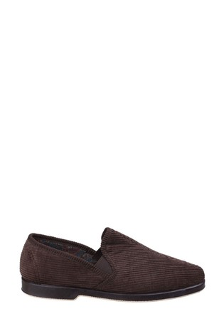 GBS Brown Twin Gusset Slippers