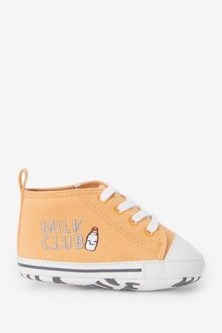 Ochre Yellow Lace-Up Pram Boots (0-24mths)