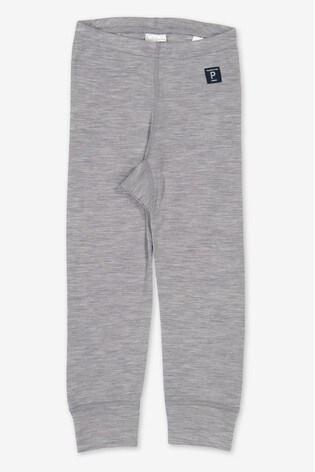 Polarn O. Pyret Grey Soft Merino Thermal Long Johns