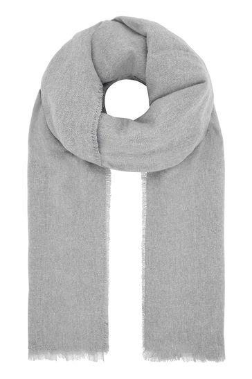 Accessorize Grey Wells Supersoft Blanket
