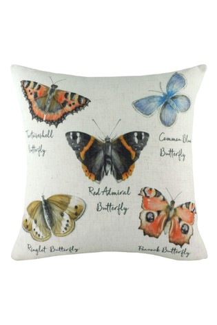 Species Hand Painted Butterfly Cushion by Evans Lichfield