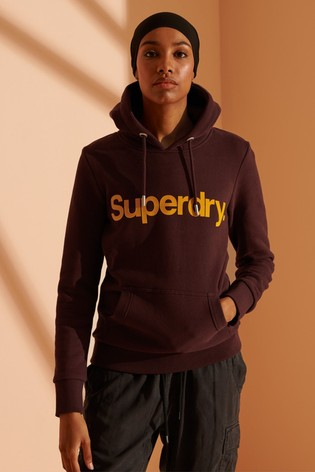 Superdry Core Logo Flock Hoody