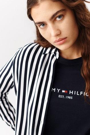 Tommy Hilfiger Blue Essential Logo T-Shirt