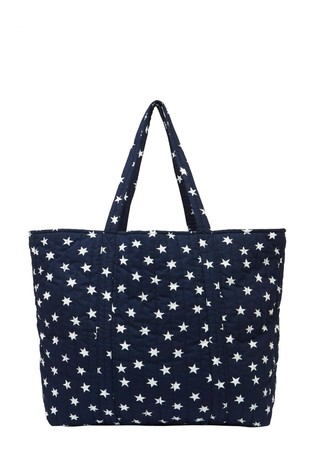 Joules Blue Hillwood Quilted Tote Bag