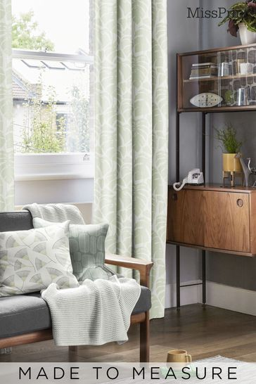 Guatemala Olive Green Made To Measure Curtains by MissPrint