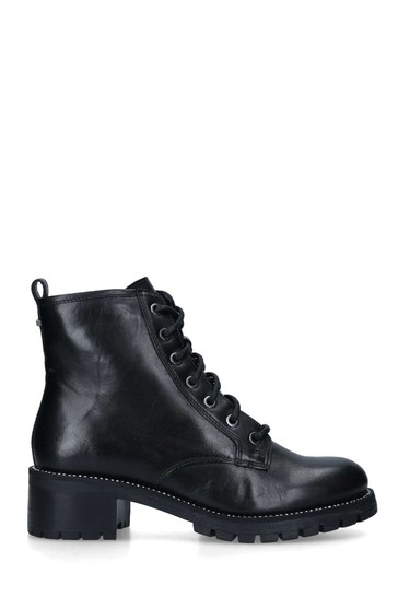 Carvela Black Treaty Lace-Up Boots