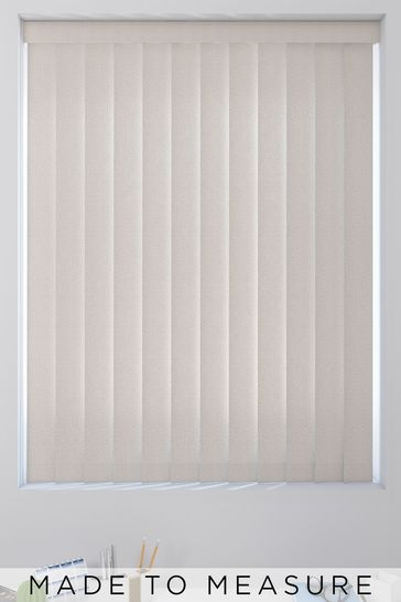 Textured Canyon Natural Made To Measure Vertical Blind