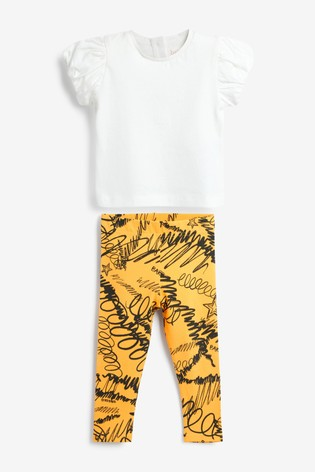 Baker by Ted Baker Printed T-Shirt And Leggings Set