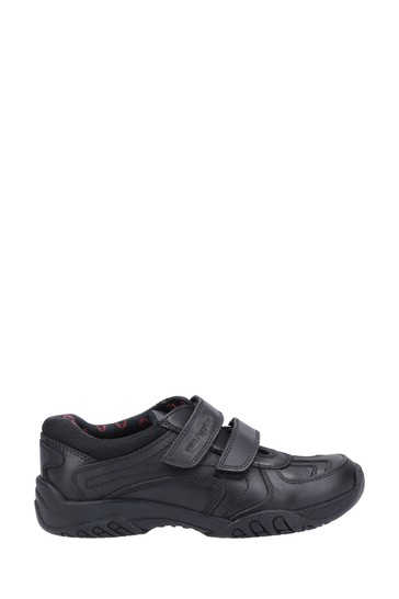 Hush Puppies Black Jezza 2 Senior School Shoes