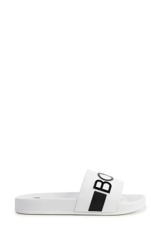 BOSS White Logo Sliders