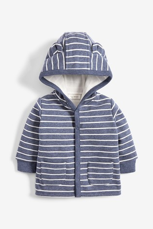 Blue Cosy Popper Lightweight Jacket (0mths-3yrs)