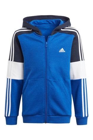 adidas Blue Block Zip Through Hoody