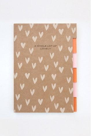 Caroline Gardner Multi Tab Kraft Notebook