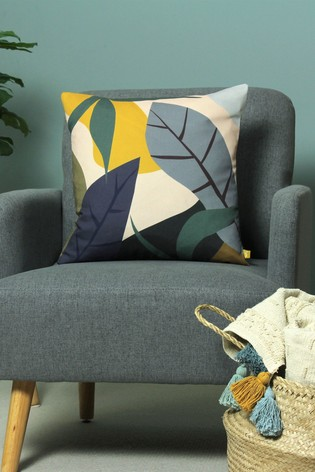 Furn Blue Recycled Polyester Junglo Cushion