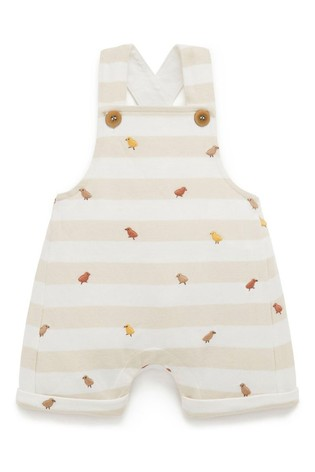 Purebaby Natural Chick Short Overall