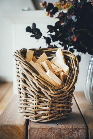 Wicker Kindling Round Basket by Ivyline