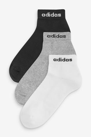 adidas Kids Linear Logo Ankle Socks Three Pack