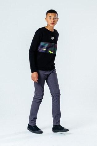Hype. Kids Black Neon Camo Crew Neck Sweater