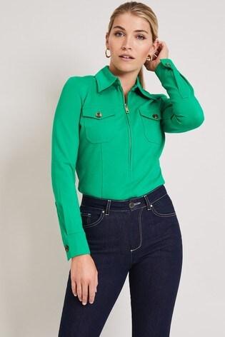 Damsel In A Dress Green Kadie Top