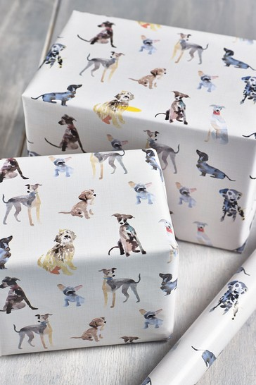 6M Dog Print Wrapping Paper