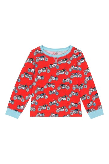 Cath Kidston® Red Fast Bikes Kids Jersey Pyjamas