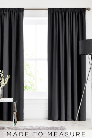 Textured Charcoal Grey Made To Measure Curtains