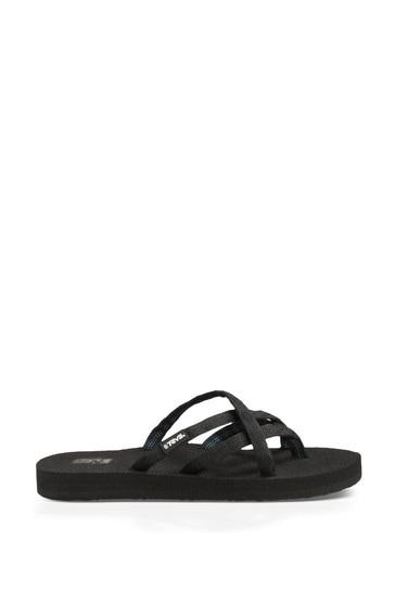 Teva® Black Olowahu Sandals