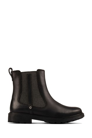 Clarks Black Leather Astrol Orin T Boots