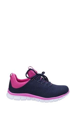 Fleet & Foster Blue Pompei Summer Shoes