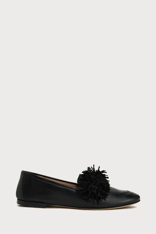 L.K.Bennett Black Lera Leather Loafer