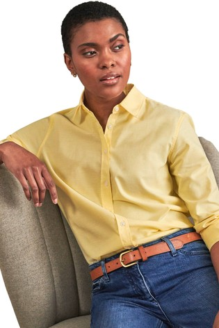 Pure Collection Yellow Cotton Shirt