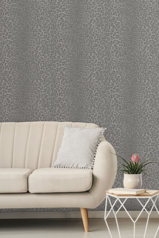 Crown Glamorous Faux Fur Wallpaper