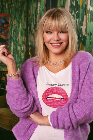 Kate Thornton x Gina Potter 'Words to Live By' Pink Lips Long Sleeve T-Shirt