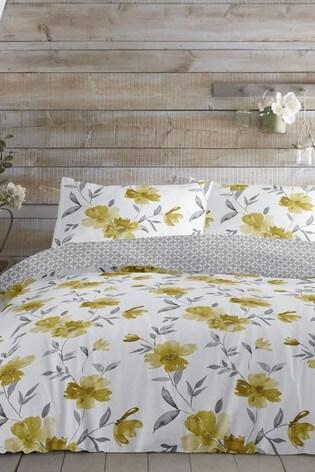 Celestine Vintage Floral Duvet Cover and Pillowcase Set by D&D