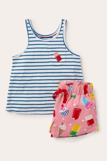 Boden Pink Fun Pocket Pyjama Set