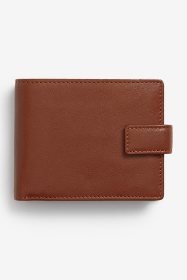 Tan Signature Italian Leather Extra Capacity Wallet