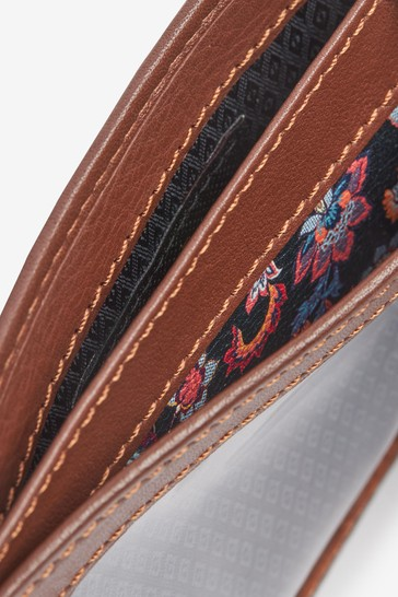 Tan Signature Italian Leather Extra Capacity Wallet