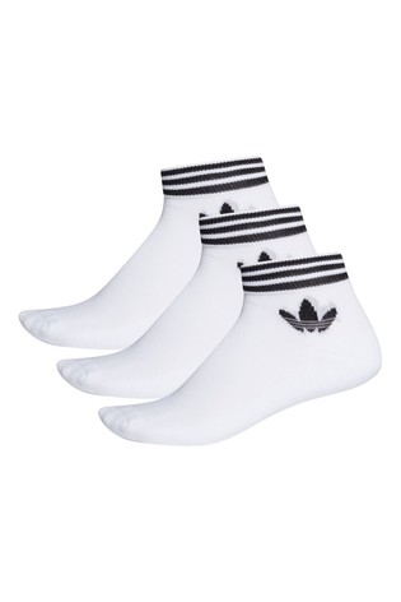 adidas Originals Kids White Ankle Socks