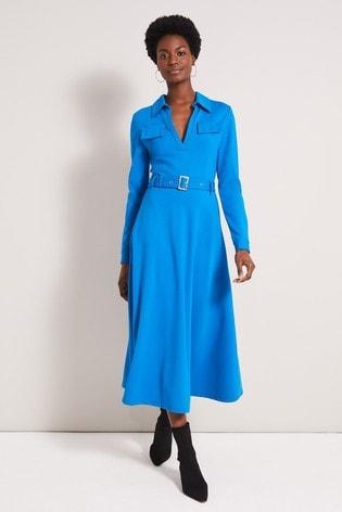 Damsel In A Dress Blue Dalby Trench Dress