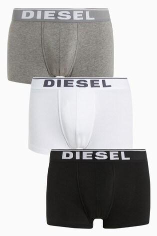 Diesel® Black/Grey/White Trunk Three Pack
