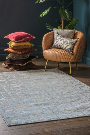 Winchester Gold Geo Rug by Gallery Direct