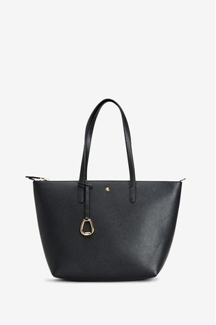 Lauren Ralph Lauren® Black Vegan Leather Keaton Tote Bag