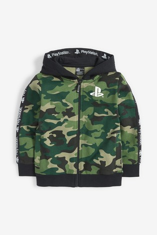 Camouflage Zip Through PlayStation™ (3-16yrs)