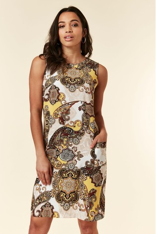 Wallis Green Dream Paisley Pinny Dress