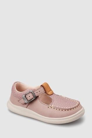 Clarks Pink Spot Cloud Rosa T Bar First Shoe